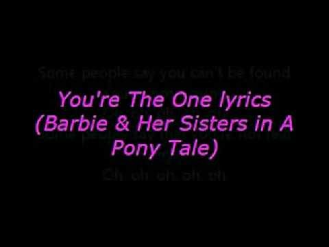 Barbie movie song: You're the one lyrics on screen