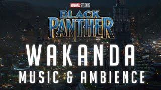Black Panther Music & Ambience | Wakanda – The Golden City Nighttime Thunderstorm