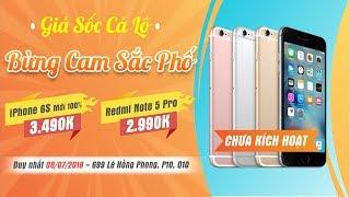 IPhone 6S MỚI Chưa Active 3.490K, Tặng Xiaomi Mi 4 - Giá Sốc Cả Lô, Bừng Cam Khắp Phố