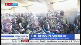 KDF Xmas in Somali:CS Omamo, Gen. Mwathethe visit soldiers in Somalia