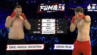 """FAME MMA 1: Daniel """"Magical"""" Zwierzyński vs Adrian """"Polak"""" Polański (Cała Walka)"""