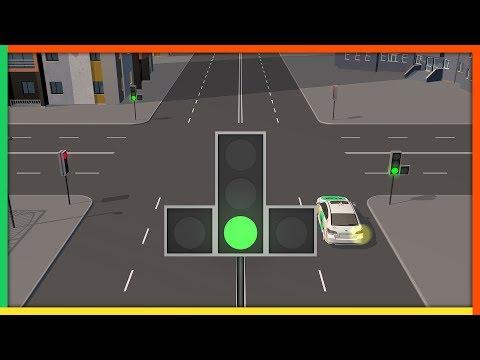 Светофор с доп. секцией без контурных стрелок на основном сигнале