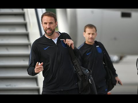 England arrive in Russia ahead of the World Cup
