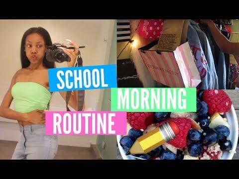 MY SCHOOL MORNING ROUTINE 2018 ft. Fine Girl Hair