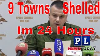 """Ukraine Army Shelled 9 Towns, Says DPR Army (ENG CC""""S)"""