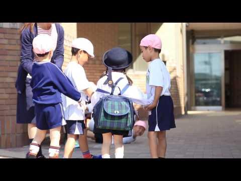 大袋幼稚園 登園の様子