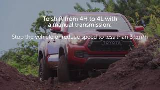 Know Your Toyota: Properly engaging 4WD