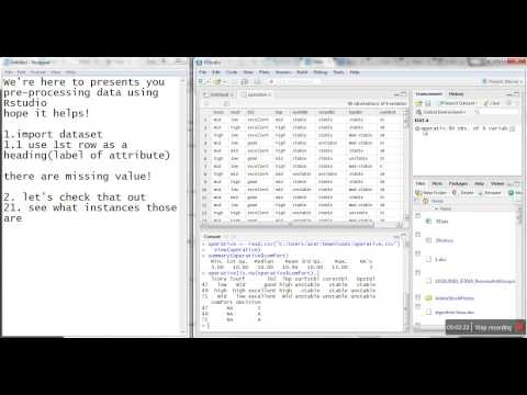 Video Tutorial Handling Missing Value RStudio