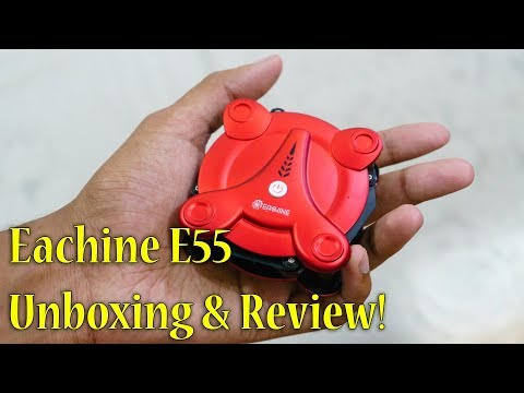 Selfie Drone for 2000Rs?? Eachine E55 Foldable FPV Drone Review