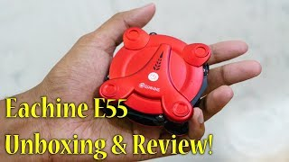 Selfie Drone for 2000Rs?? Eachine E55 Foldable Drone Review