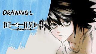 Drawing L - Death Note デスノート