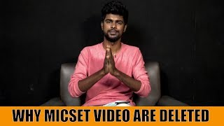Why Micset Videos Are Deleted | Live With Sriram | Mic Set