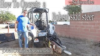 How to Operate a Bobcat Skid Steer Tractor