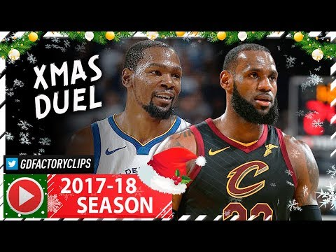 Kevin Durant vs LeBron James EPIC XMAS Duel Highlights (2017.12.25) Cavaliers vs Warriors - MUST SEE