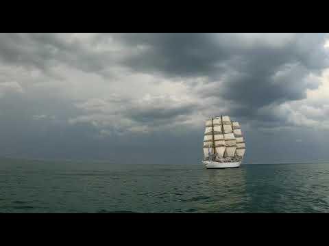 El increíble video de la Fragata Libertad en la costa marplatense