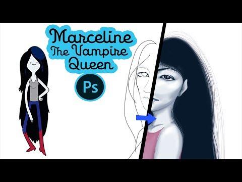 Marceline  / ADVENTURE TIME / FANART by MARIPHOSA