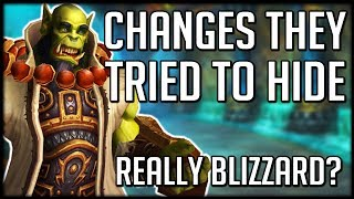REALLY BLIZZARD? Patch 8.1 UNDOCUMENTED Changes Are Crazy   WoW Battle for Azeroth