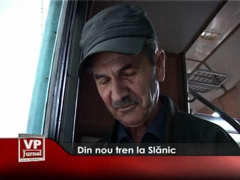 Din nou tren la Slănic