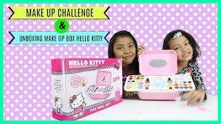 MAKE UP CHALLENGE ♥ UNBOXING MAINAN ANAK MAKE UP HELLO KITTY | Kholo.pk