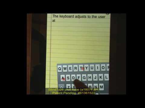 BlindType Lets You Type On Your Smartphone With An Invisible Keyboard