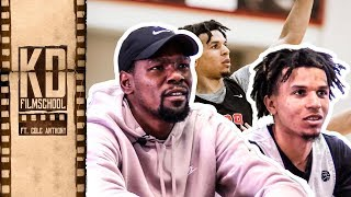 """Kevin Durant Reviews Film With Oak Hill's COLE ANTHONY! """"You're So Much Better Than These Guys."""""""