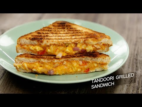 Tandoori Grilled Sandwich – cafe style veg grill cheese recipe CookingShooking