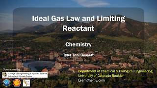 Using The Ideal Gas Law To Determine The Limiting Reagent