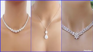 Delicate Diamond Necklace Designs 2019