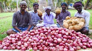 KING of ONION Bajji | Vengaya Bajji | Onion Bhaji Recipe Cooking in Village | Onion Snack Recipe