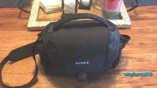 Sony LCSU21 Soft Carrying Case Unboxing & Review