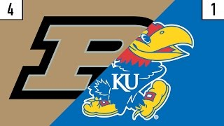 4 Purdue vs. 1 Kansas Prediction | Who