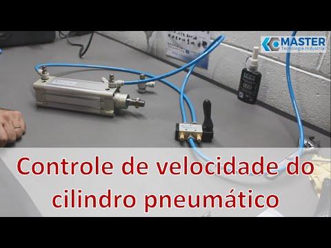 Controle da velocidade de um cilindro pneumático