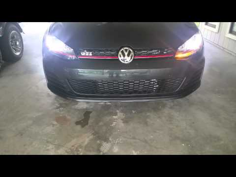 Golf MK7 pulsing fading LED DRL blinker VCDS tweak - смотреть онлайн