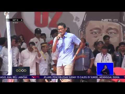 Good Election: Sandi Gelar Kampanye Terbuka di Alun-Alun Tangerang