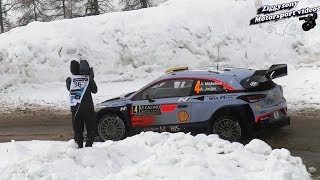 Rally Monte Carlo 2018 flat out show&mistakes
