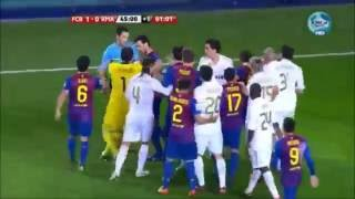 Real Madrid - Barcelona Maçı Büyük Kavga