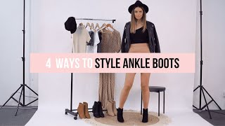 How To Style Ankle Boots In 2020