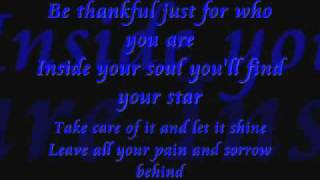 Sarah Connor be thankful lyrics