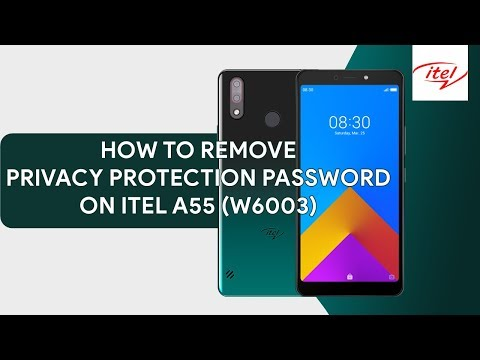 How To Remove Privacy Protection Password On Itel A55 W6003 - [romshillzz]