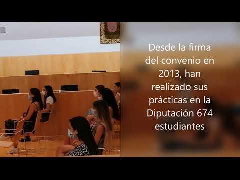Bienvenida a estudiantes en prácticas de la Universidad de Málaga en la Diputación (redes)