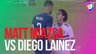 Matt Miazga vs Diego Lainez - Se calentaron los ánimos en el EEUU vs México