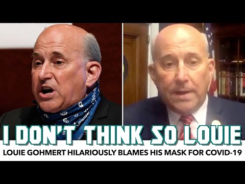 Louie Gohmert Hilariously Blames His Mask For COVID-19 Result