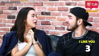 YanDre on PEP Talk. Yassi Pressman and Andre Paras play