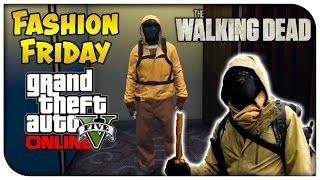 GTA 5 Online FASHION FRIDAY! (Morgan from The Walking Dead, Rick Grimes & Bio-hazard Commando)