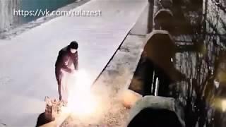 Очевидцы: Ночью в Туле на улице Лескова подожгли дом. Видео