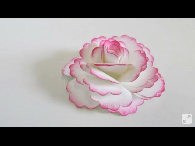 Como Fazer Rosas De Papel A4 Fácil Diy Com Molde Cantinho