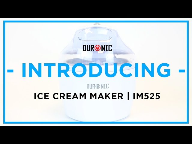 Duronic IM525 Ice Cream Maker | Sorbet | Frozen Yoghurt | 1.2 Litres | Rich Raspberry Frozen Yoghurt