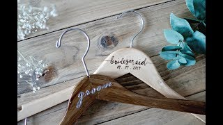 EASY DIY WEDDING BRIDAL HANGERS