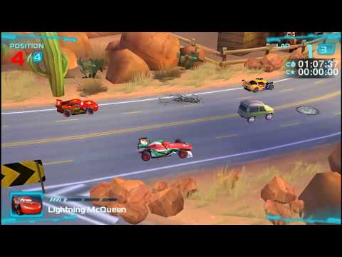 Cars 2 Lightning Mcqueen Riverside Tour PSP Gameplay