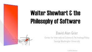 Walter Shewhart and the Philosophy of Software